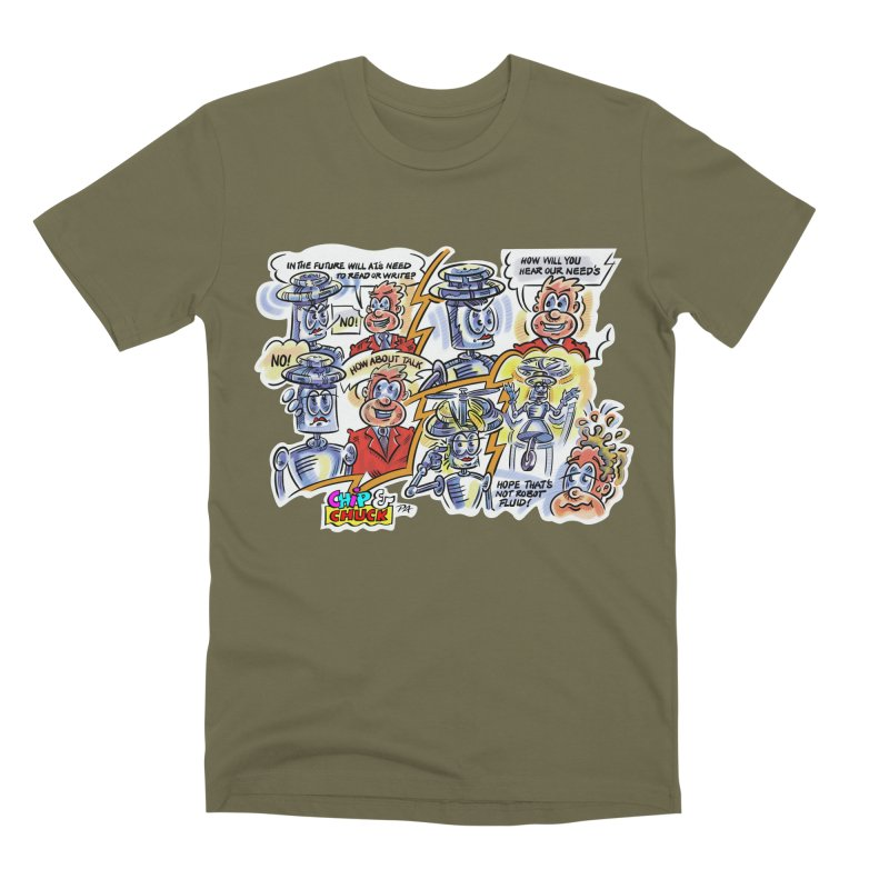 CHIP fly and robot fluid Men's Premium T-Shirt by thethinkforward's Artist Shop