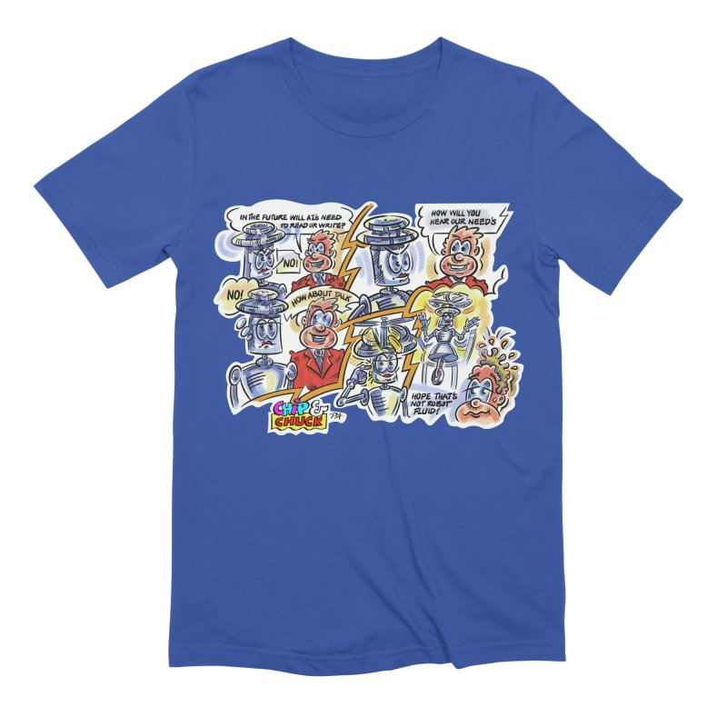 CHIP fly and robot fluid Men's Extra Soft T-Shirt by thethinkforward's Artist Shop