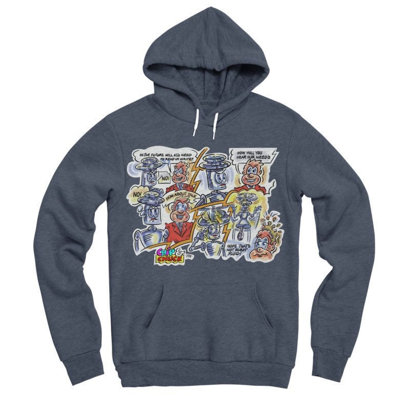 CHIP fly and robot fluid Women's Sponge Fleece Pullover Hoody by thethinkforward's Artist Shop