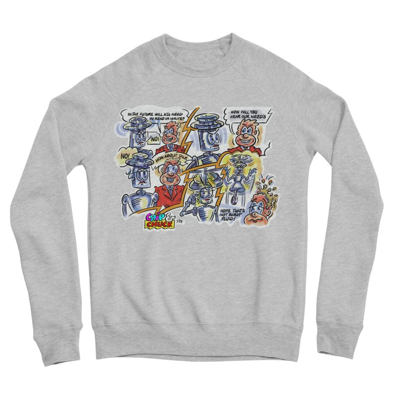 CHIP fly and robot fluid Women's Sponge Fleece Sweatshirt by thethinkforward's Artist Shop