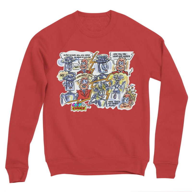 CHIP fly and robot fluid Women's Sponge Fleece Sweatshirt by thethinkforward's Artist Shop
