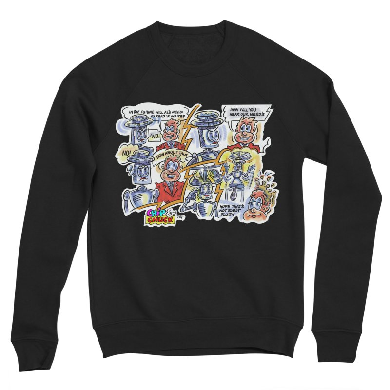 CHIP fly and robot fluid Men's Sponge Fleece Sweatshirt by thethinkforward's Artist Shop