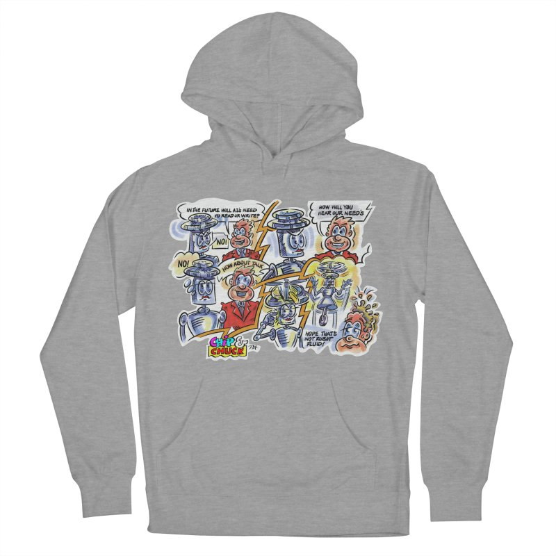 CHIP fly and robot fluid Women's French Terry Pullover Hoody by thethinkforward's Artist Shop