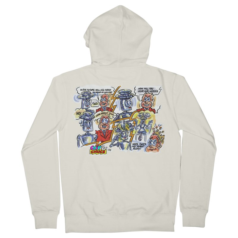 CHIP fly and robot fluid Women's French Terry Zip-Up Hoody by thethinkforward's Artist Shop