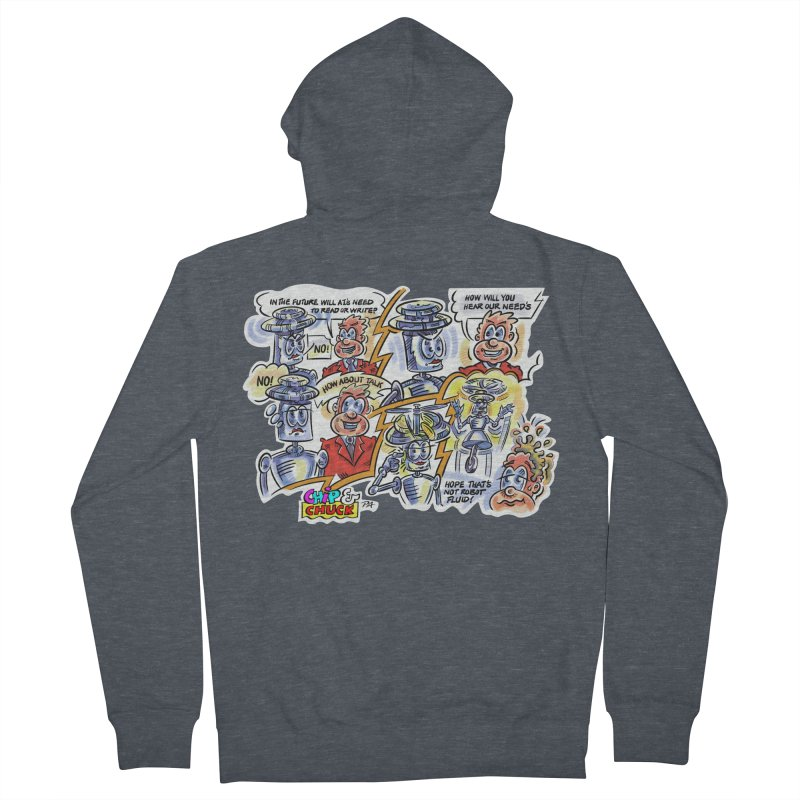 CHIP fly and robot fluid Men's French Terry Zip-Up Hoody by thethinkforward's Artist Shop