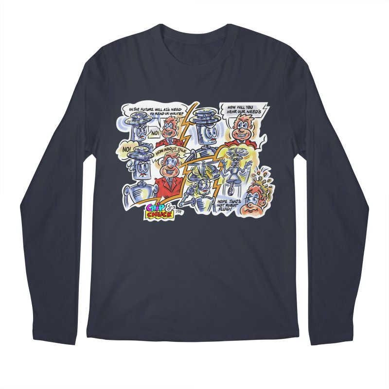 CHIP fly and robot fluid Men's Regular Longsleeve T-Shirt by thethinkforward's Artist Shop