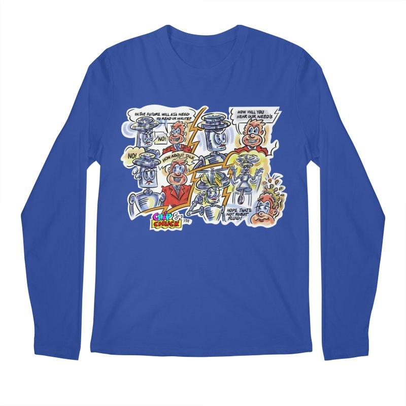 CHIP fly and robot fluid Men's Regular Longsleeve T-Shirt by thethinkforward's Artist Shop