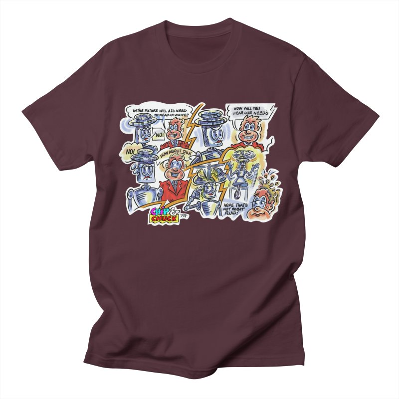 CHIP fly and robot fluid Women's Regular Unisex T-Shirt by thethinkforward's Artist Shop