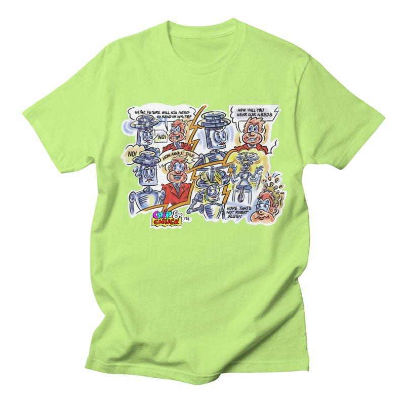 CHIP fly and robot fluid Men's Regular T-Shirt by thethinkforward's Artist Shop