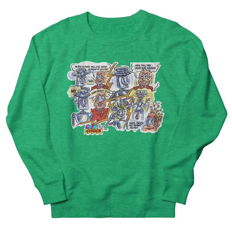 CHIP fly and robot fluid Women's French Terry Sweatshirt by thethinkforward's Artist Shop