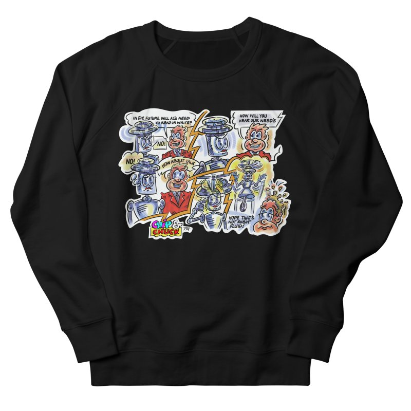 CHIP fly and robot fluid Men's French Terry Sweatshirt by thethinkforward's Artist Shop