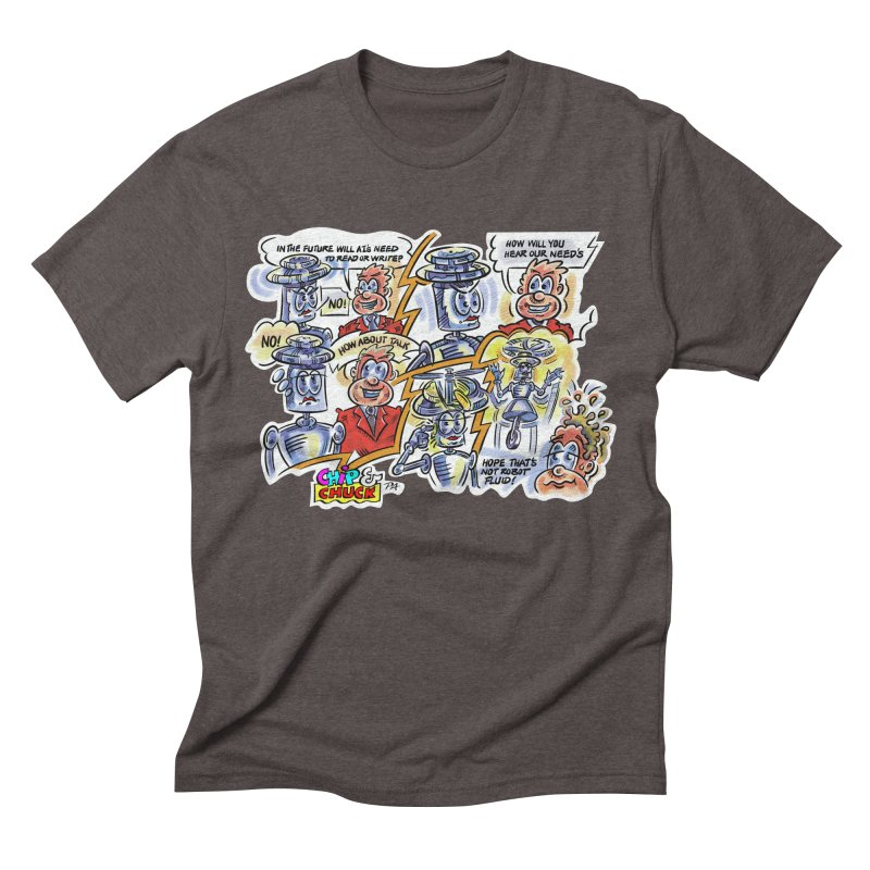 CHIP fly and robot fluid Men's Triblend T-Shirt by thethinkforward's Artist Shop