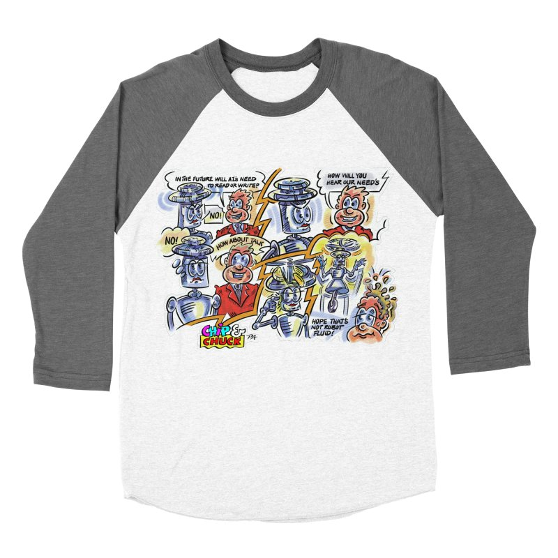 CHIP fly and robot fluid Women's Baseball Triblend Longsleeve T-Shirt by thethinkforward's Artist Shop