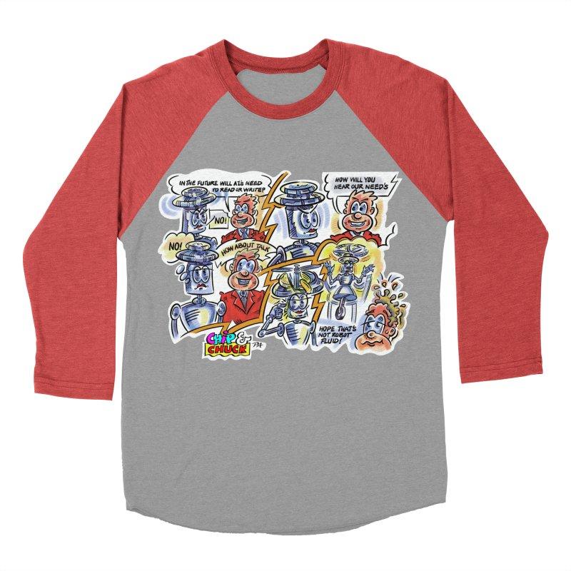 CHIP fly and robot fluid Women's Baseball Triblend Longsleeve T-Shirt by thethinkforward's Artist Shop