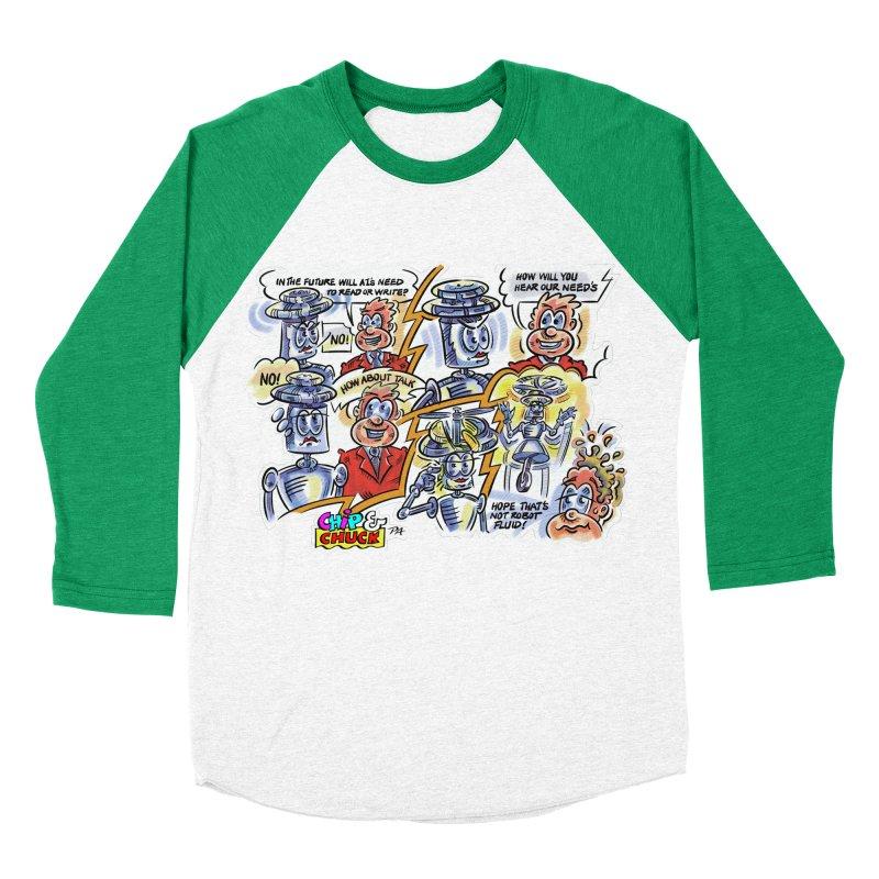 CHIP fly and robot fluid Men's Baseball Triblend Longsleeve T-Shirt by thethinkforward's Artist Shop