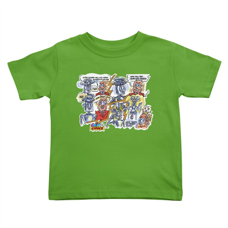 CHIP fly and robot fluid Kids Toddler T-Shirt by thethinkforward's Artist Shop