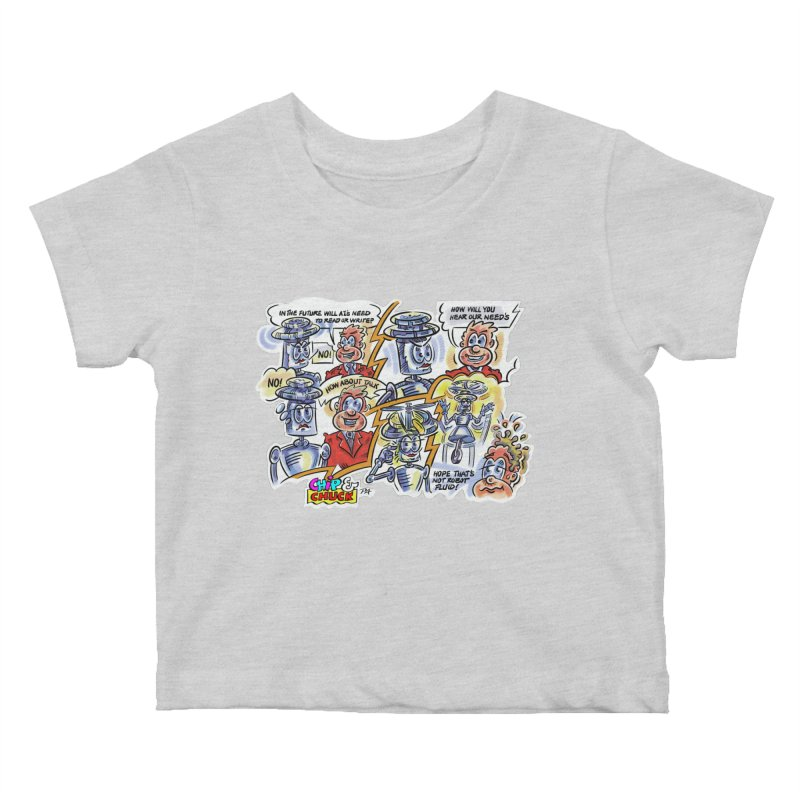 CHIP fly and robot fluid Kids Baby T-Shirt by thethinkforward's Artist Shop