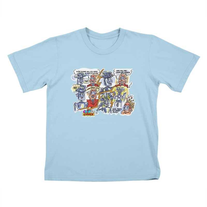 CHIP fly and robot fluid Kids T-Shirt by thethinkforward's Artist Shop