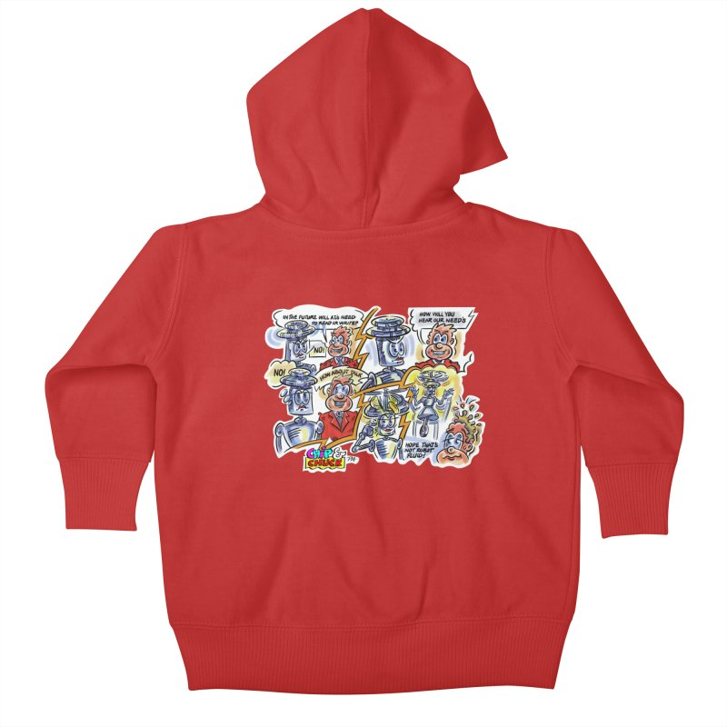 CHIP fly and robot fluid Kids Baby Zip-Up Hoody by thethinkforward's Artist Shop