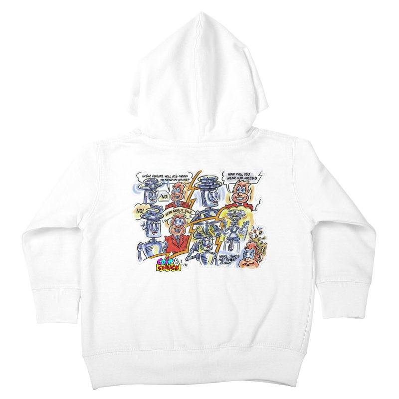 CHIP fly and robot fluid Kids Toddler Zip-Up Hoody by thethinkforward's Artist Shop