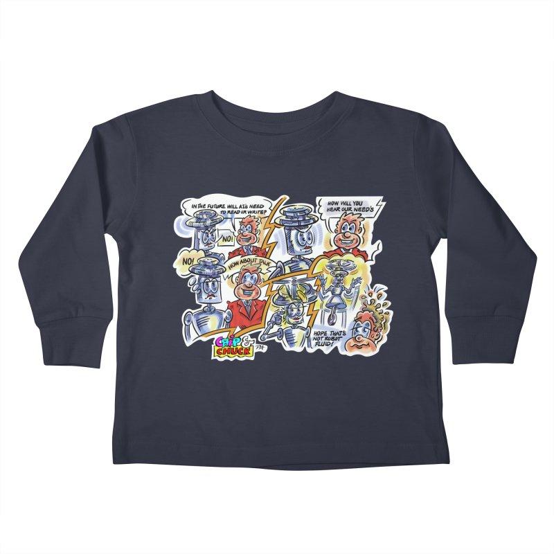 CHIP fly and robot fluid Kids Toddler Longsleeve T-Shirt by thethinkforward's Artist Shop