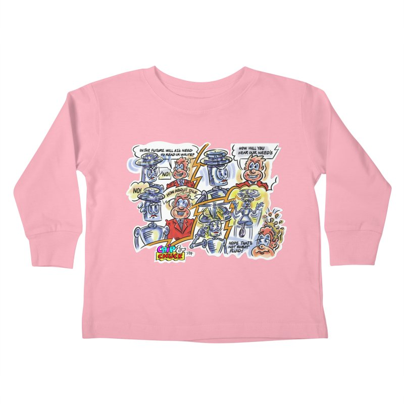 CHIP fly and robot fluid Kids Toddler Longsleeve T-Shirt by thethinkforward's Artist Shop