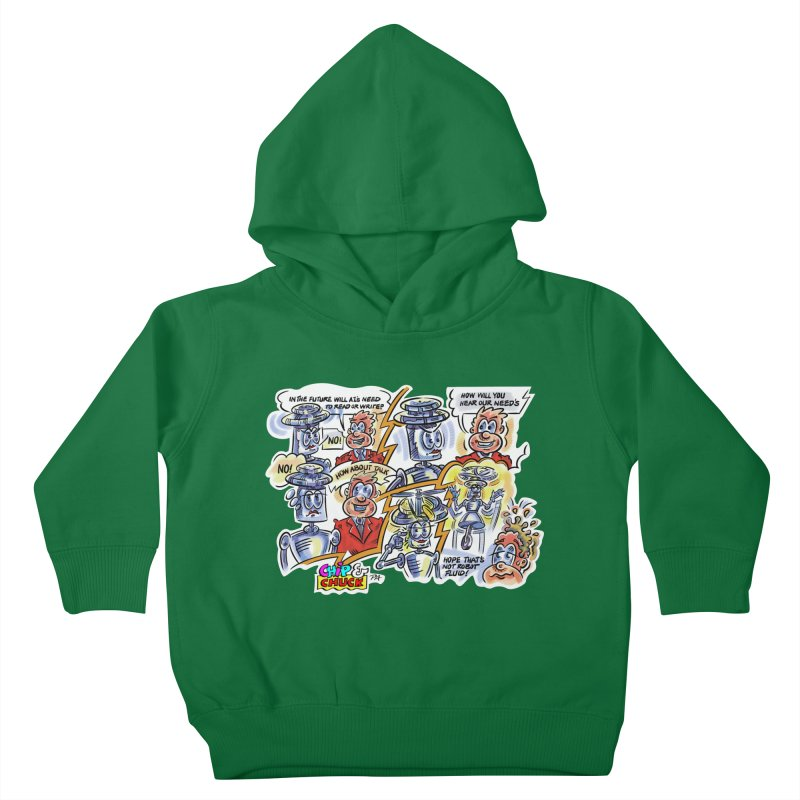 CHIP fly and robot fluid Kids Toddler Pullover Hoody by thethinkforward's Artist Shop