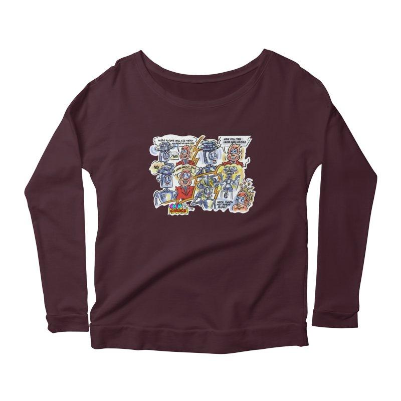 CHIP fly and robot fluid Women's Longsleeve T-Shirt by thethinkforward's Artist Shop