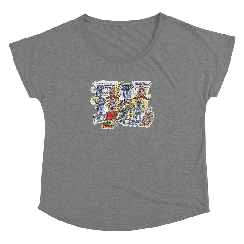 CHIP fly and robot fluid Women's Dolman Scoop Neck by thethinkforward's Artist Shop