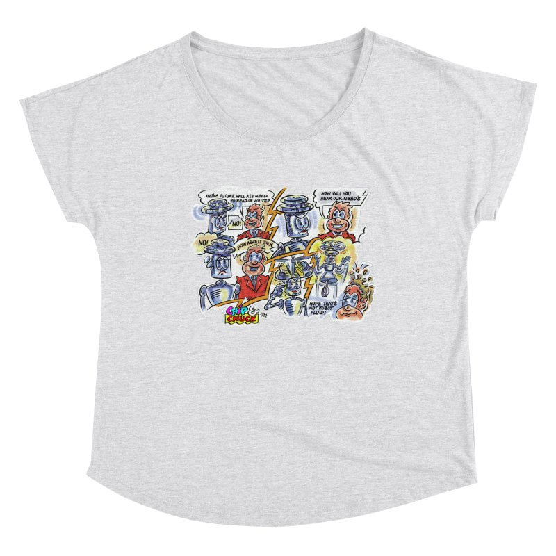 CHIP fly and robot fluid Women's Scoop Neck by thethinkforward's Artist Shop