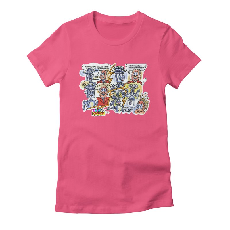 CHIP fly and robot fluid Women's T-Shirt by thethinkforward's Artist Shop