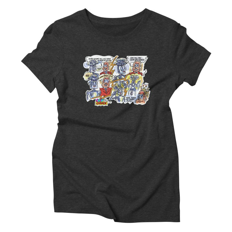 CHIP fly and robot fluid Women's Triblend T-Shirt by thethinkforward's Artist Shop