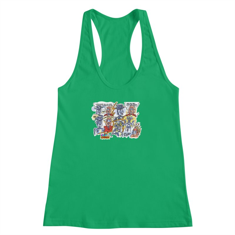 CHIP fly and robot fluid Women's Racerback Tank by thethinkforward's Artist Shop