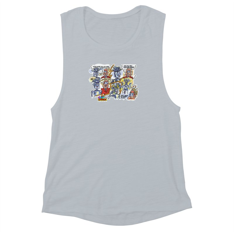 CHIP fly and robot fluid Women's Muscle Tank by thethinkforward's Artist Shop
