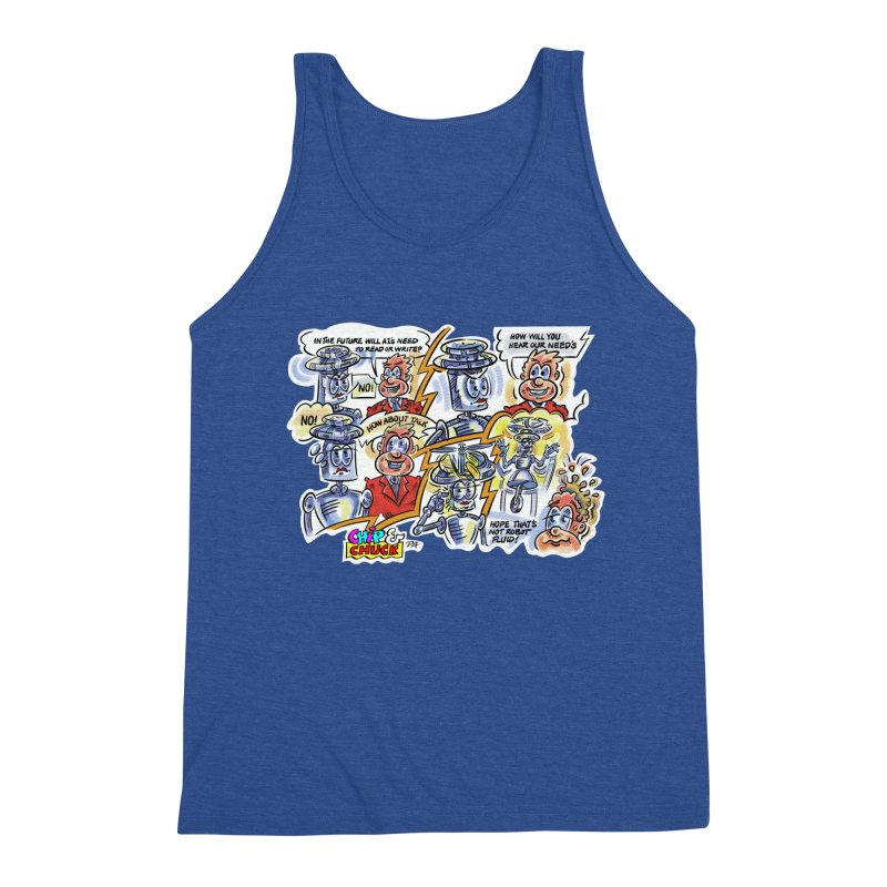 CHIP fly and robot fluid Men's Triblend Tank by thethinkforward's Artist Shop
