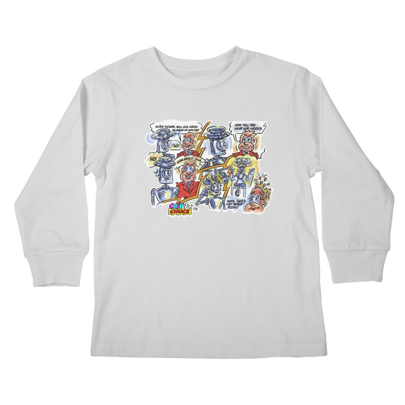 CHIP fly and robot fluid Kids Longsleeve T-Shirt by thethinkforward's Artist Shop