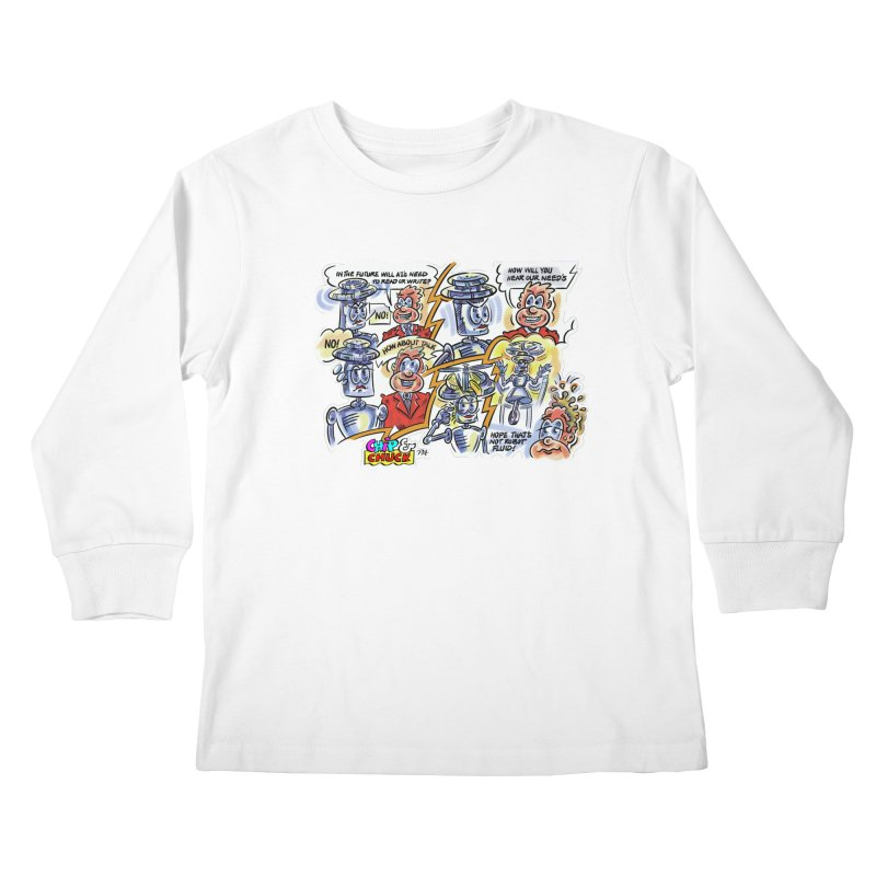 CHIP fly and robot fluid Kids Longsleeve T-Shirt by thethinkforward's Artist Shop