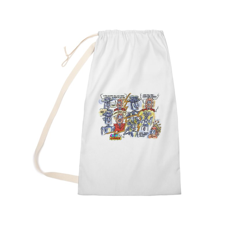 CHIP fly and robot fluid Accessories Laundry Bag Bag by thethinkforward's Artist Shop