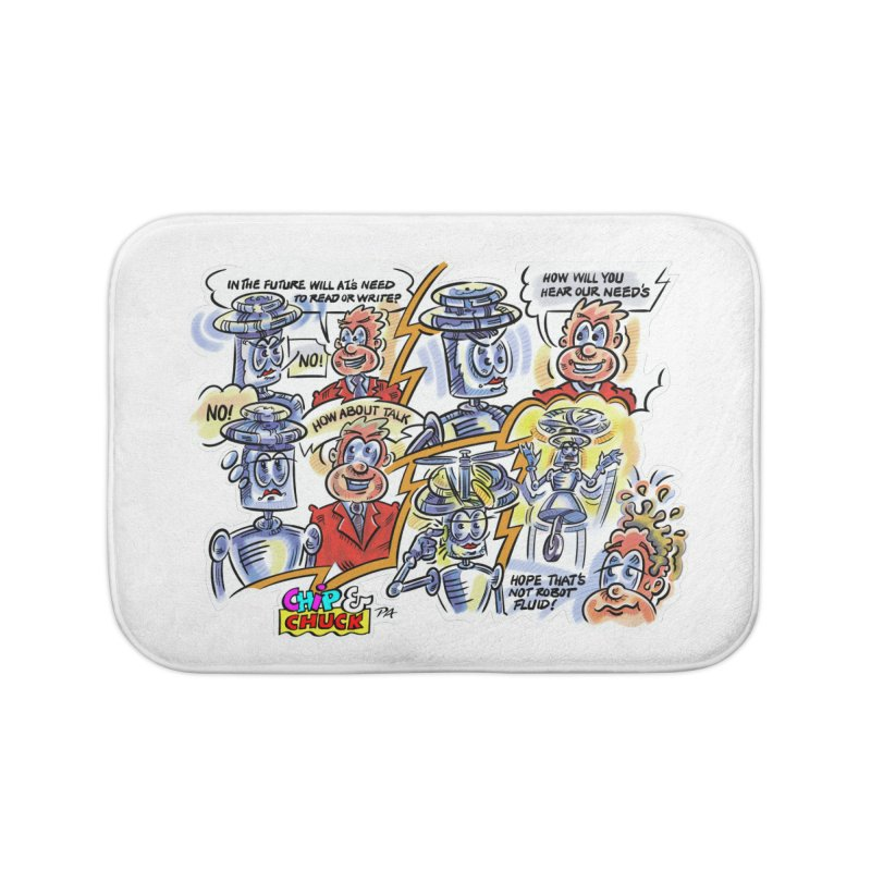 CHIP fly and robot fluid Home Bath Mat by thethinkforward's Artist Shop