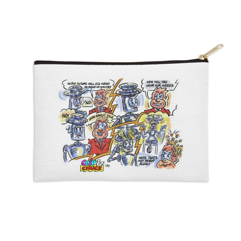 CHIP fly and robot fluid Accessories Zip Pouch by thethinkforward's Artist Shop