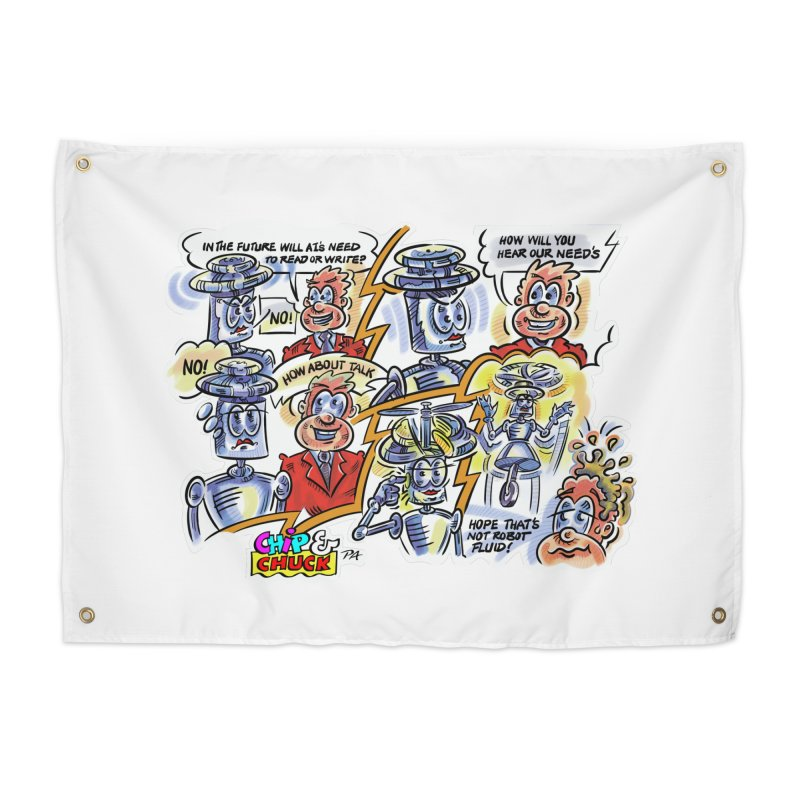 CHIP fly and robot fluid Home Tapestry by thethinkforward's Artist Shop