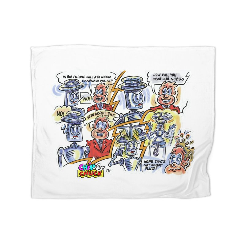 CHIP fly and robot fluid Home Blanket by thethinkforward's Artist Shop