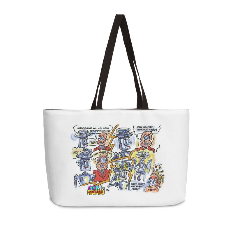 CHIP fly and robot fluid Accessories Weekender Bag Bag by thethinkforward's Artist Shop