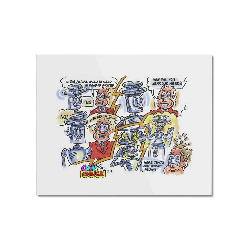 CHIP fly and robot fluid Home Mounted Acrylic Print by thethinkforward's Artist Shop