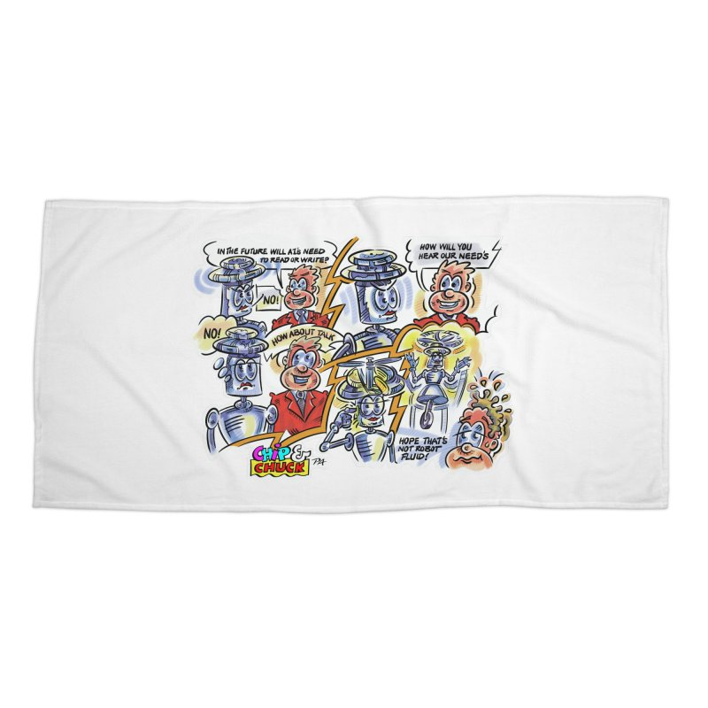 CHIP fly and robot fluid Accessories Beach Towel by thethinkforward's Artist Shop