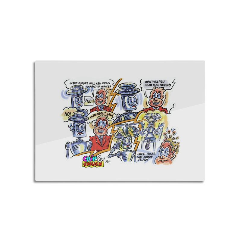 CHIP fly and robot fluid Home Mounted Aluminum Print by thethinkforward's Artist Shop