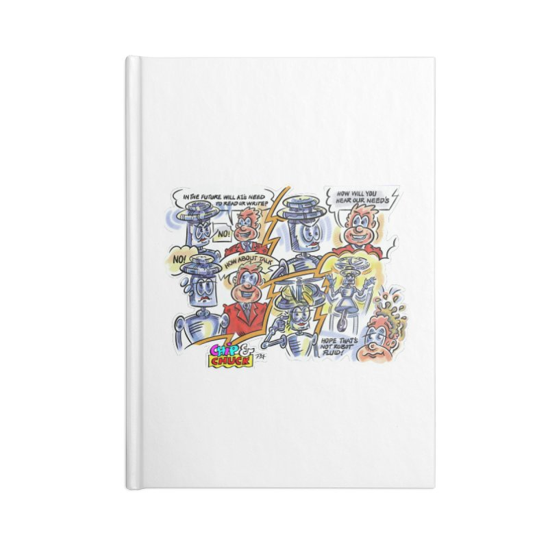CHIP fly and robot fluid Accessories Lined Journal Notebook by thethinkforward's Artist Shop