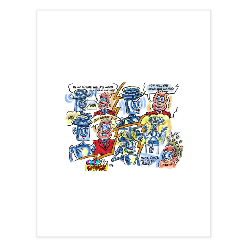 CHIP fly and robot fluid Home Fine Art Print by thethinkforward's Artist Shop