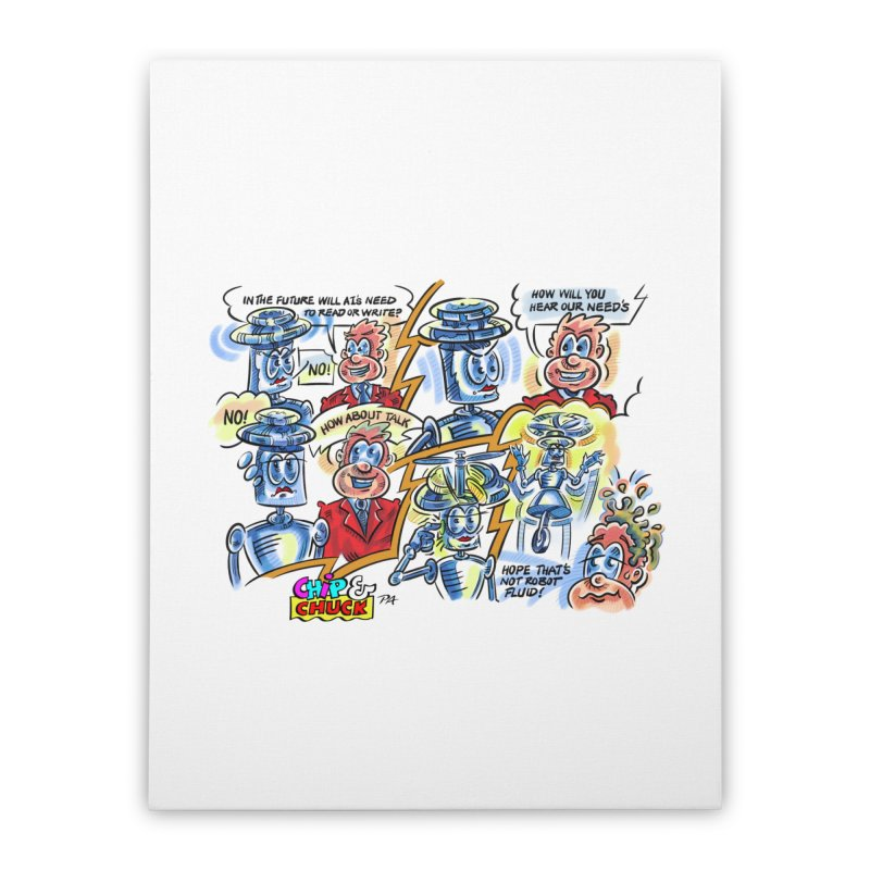 CHIP fly and robot fluid Home Stretched Canvas by thethinkforward's Artist Shop