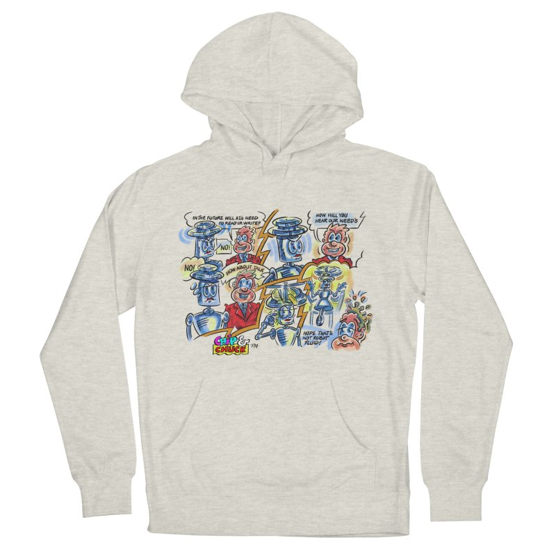 CHIP fly and robot fluid Men's French Terry Pullover Hoody by thethinkforward's Artist Shop